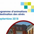Le programme de la Maison des Aînés Septembre 2018